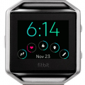 Fitbit Blaze face with time and 5 other stats including steps and heart rate