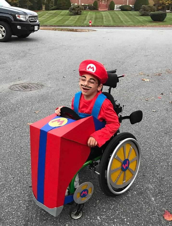 Omer dressed as Mario