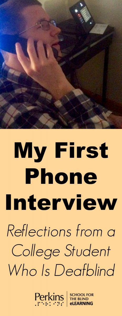 Collage of first phone interview