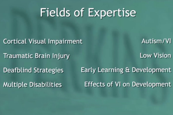 A Fields of Expertise graphic slide.