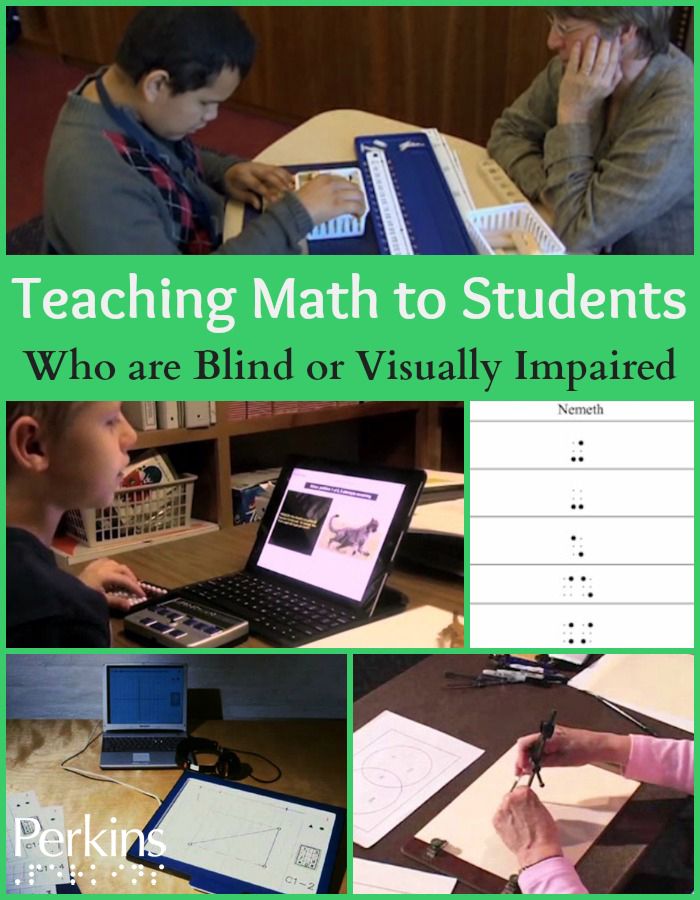 Osterhaus presents a webcast on Teaching Math to Students Who are Blind or Visually Impaired.