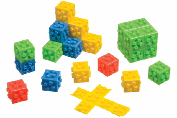 Many Omni cubes stacked in various configurations.