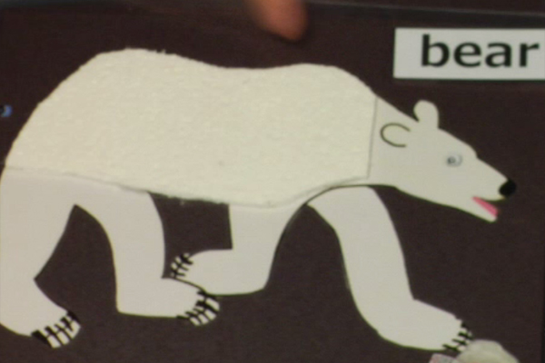 Marguerite exchange the word white with bear.