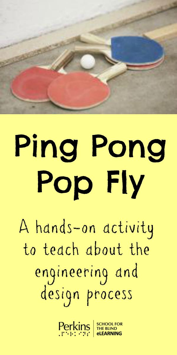 Pinterest collage of ping pong pop fly