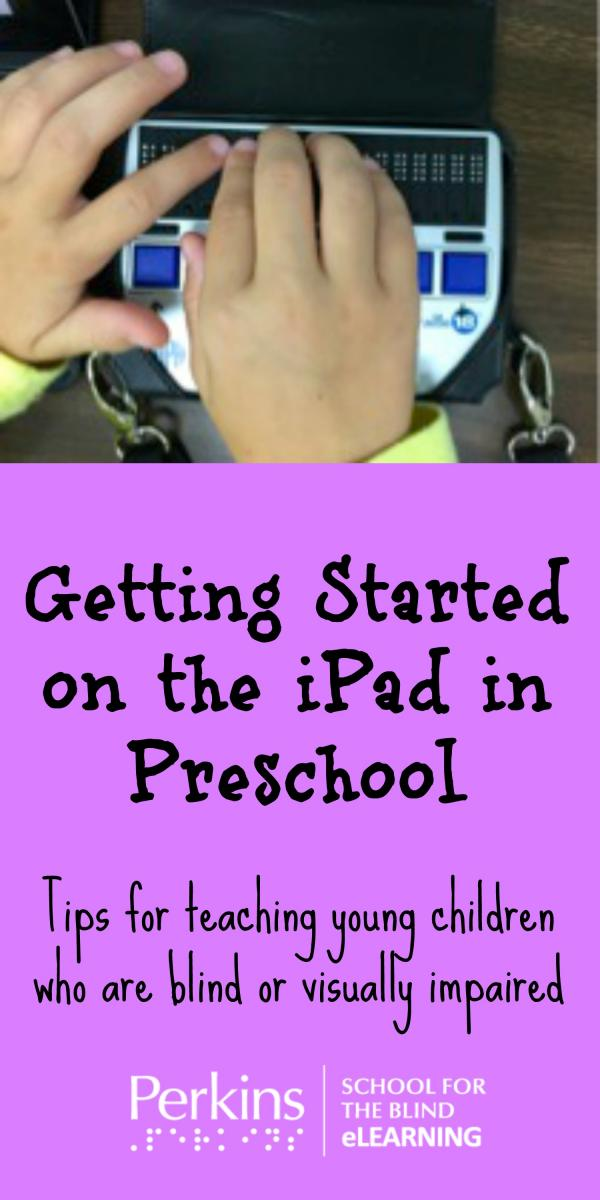 Pinterest collage for getting started on the iPad with preschoolers