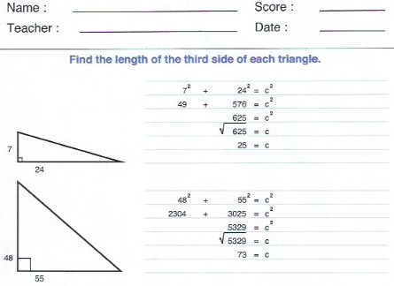pythagorean answers clip