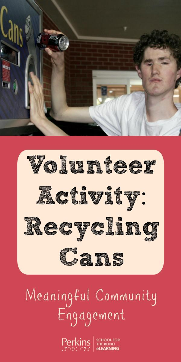 Collage of volunteer recycling activity