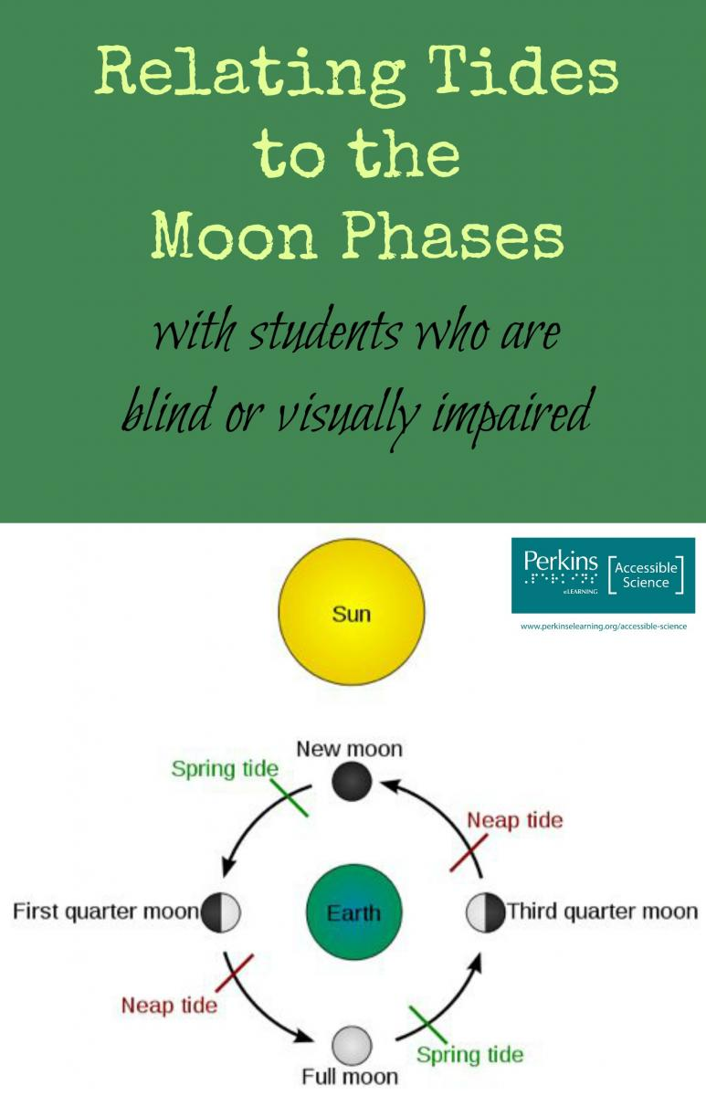 Collage of relating tides to moon phases