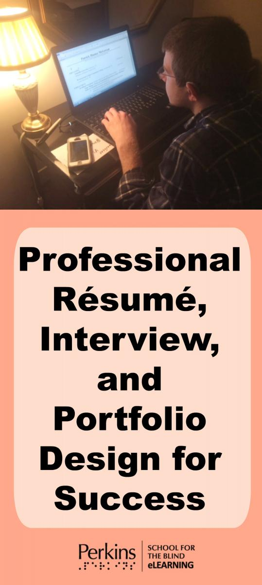 Collage of professional resume