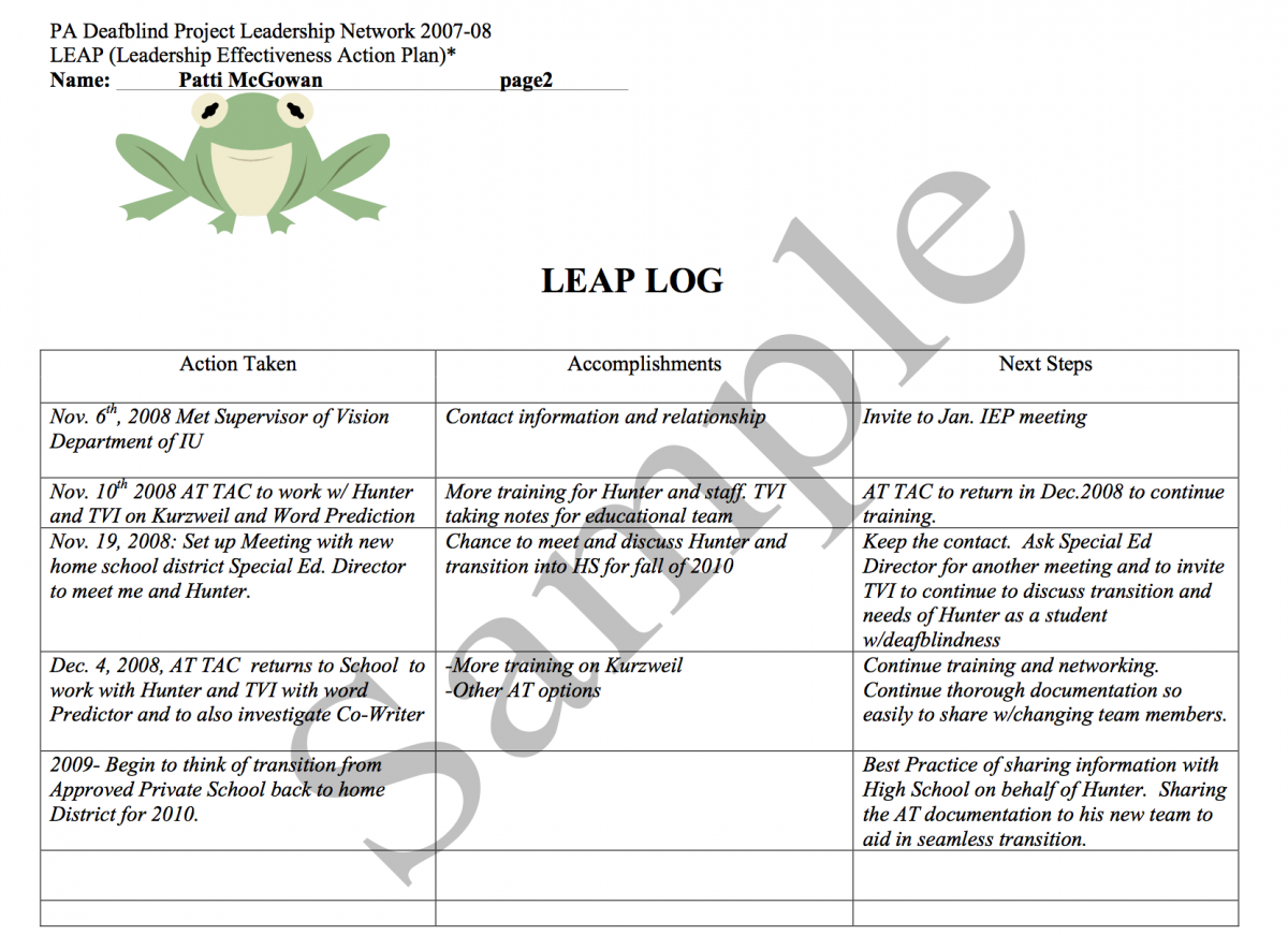 Sample LEAP Log