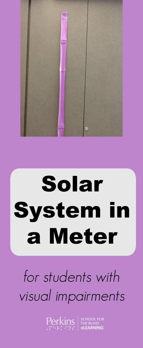 Collage of the solar system in a meter