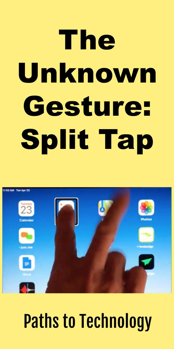 Collage of Split Tap Gesture