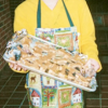A student with a fresh batch of dog treats.