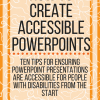 How to create accessible PowerPoints. www.veroniiiica.com