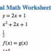 Screenshot of an HTML worksheet with numbered math problems