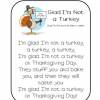 I'm Glad I'm Not a Turkey Poem