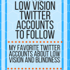 Five low vision twitter accounts to follow; my favorite twitter accounts about low vision and blindness. www.veroniiiica.com