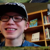 Screenshot of student and vision teacher using FaceTime.