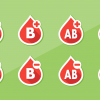 graphic with different blood types