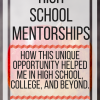 High School Mentorships: how this unique opportunity helped me in high school, college, & beyond. www.veroniiiica.org