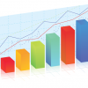 bar graph with different colored columns and line graphs