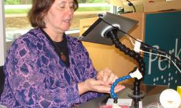 Dr.  Therese Willkomm is making assistive technology solutions for the iPad.