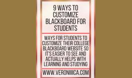 "Image with ""9 ways to Customize Blackboard for Students"". www.veroniiiica.com"