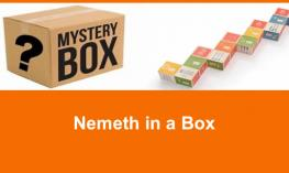 "Mystery Box and math cubes with text, ""Nemeth in a Box."""