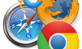 Internet Explorer, Firefox, Chrome, and Safari logos