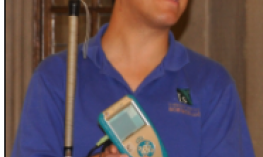Dr. Cary Supalo holding a Talking LabQuest Data Collection Tool.