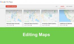 "Screenshot of my maps.google.com with tabs: Owned, Not-owned and text, ""Editing Maps"""