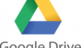 Google Drive Logo: Triangle shape with green, yellow and blue sides.
