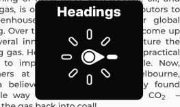 Screenshot of Headings setting in the rotor.