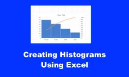 "Screenshot of Excel spreadsheet with Histogram and text, ""Creating Histograms Using Excel""."