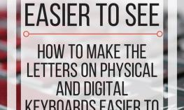 Image with text: How to make keyboards easier to see. www.veroniiiica.com
