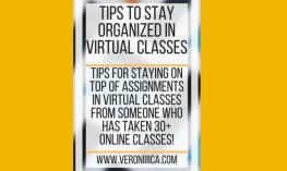 Tips to stay organized in virtual classes. www.veroniiiica.com