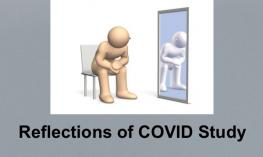 """Reflections logo and text, """"Reflections of COVID Study"""""""