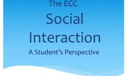 "Text, ""The ECC Social Interaction: a Student's Perspective"""