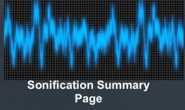 "Image of a sound wave with text, ""Sonification Summary Page"""