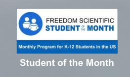 Freedom Scientific Student of the Month logo