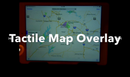 Screenshot of Tactile Map iPad Overlay