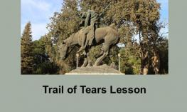 Photo of End of Trail Statue: starved and exhausted horse and Indian rider with heads down