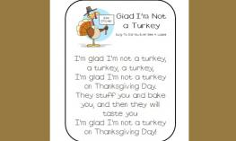 Glad I am not a turkey poem.