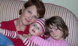 Photo of Rebecca and her children.