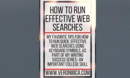 Graphic: How to run effective web searches. www.veroniiiica.com