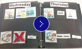 An  example of calendar with activities.