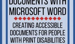 Creating accessible documents for people with print disabilities with Microsoft Office Word 2016. www.veroniiiica.com