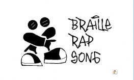 """Braille Rap logo with text """"braille rap song""""."""