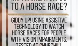 How do people with vision impairments go to a horse race? www.veroniiiica.com