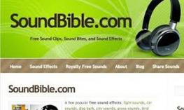 Image of soundbible.com home page